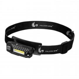 Falcon Eye USB įkraunamas 60lm universalus žibintuvėlis ant galvos BLAZE 2.2