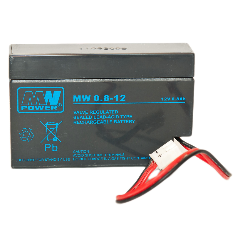 MWPower MW 12V 0.8Ah AGM akumuliatorius, 6-9 metai
