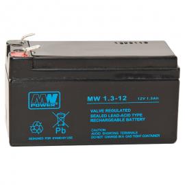 MWPower MW 12V 1.3Ah F1(187) AGM akumuliatorius, 6-9 metai