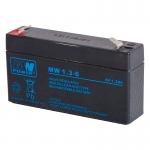 MWPower MW 6V 1.3Ah F1(187) AGM akumuliatorius, 6-9 metai