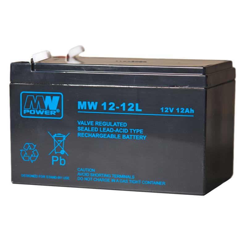 MWPower MW 12V 12Ah F1(187) AGM akumuliatorius, 6-9 metai