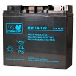 MWPower MW 12V 18Ah AGM akumuliatorius, 6-9 metai