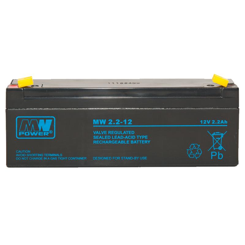 MWPower MW 12V 2.2Ah F1(187) AGM akumuliatorius, 6-9 metai
