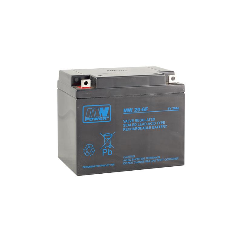 MWPower MW 6V 20Ah M5(F3) AGM akumuliatorius, 6-9 metai
