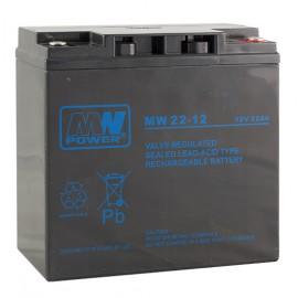 MWPower MW 12V 22Ah M5(T13) AGM akumuliatorius, 6-9 metai