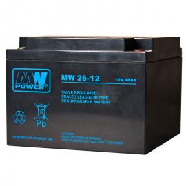 MWPower MW 12V 26Ah M5(T13) AGM akumuliatorius, 6-9 metai