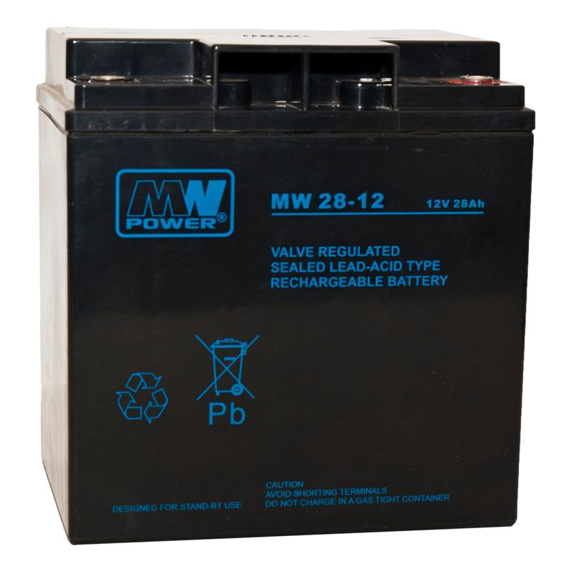 MWPower MW 12V 28Ah M5(T13) AGM akumuliatorius, 6-9 metai