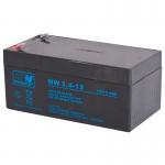 MWPower MW 12V 3.4Ah F1(187) AGM akumuliatorius, 6-9 metai