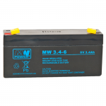 MWPower MW 6V 3.4Ah F1(187) AGM akumuliatorius, 6-9 metai