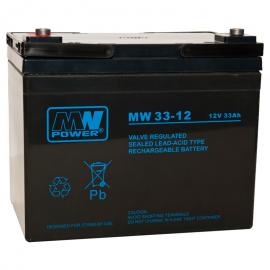MWPower MW 12V 33Ah M5(F6) AGM akumuliatorius, 6-9 metai