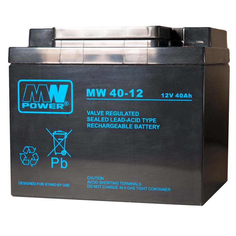 MWPower MW 12V 40Ah M6 AGM akumuliatorius, 6-9 metai