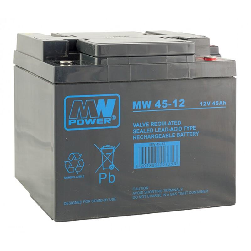 MWPower MW 12V 45Ah M6 AGM akumuliatorius, 6-9 metai