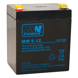 MWPower MW 12V 5Ah F2(250) AGM akumuliatorius, 6-9 metai