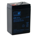 MWPower MW 6V 5Ah F1(187) AGM akumuliatorius, 6-9 metai