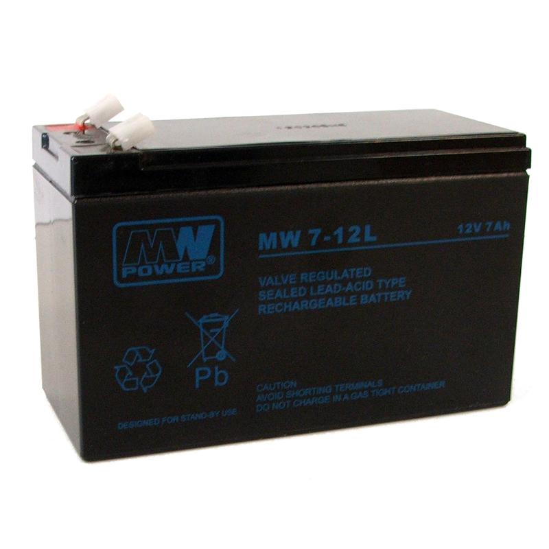 MWPower MW 12V 7Ah F1(187) AGM akumuliatorius, 6-9 metai