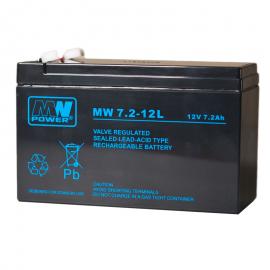MWPower MW 12V 7.2Ah F1(187) AGM akumuliatorius, 6-9 metai