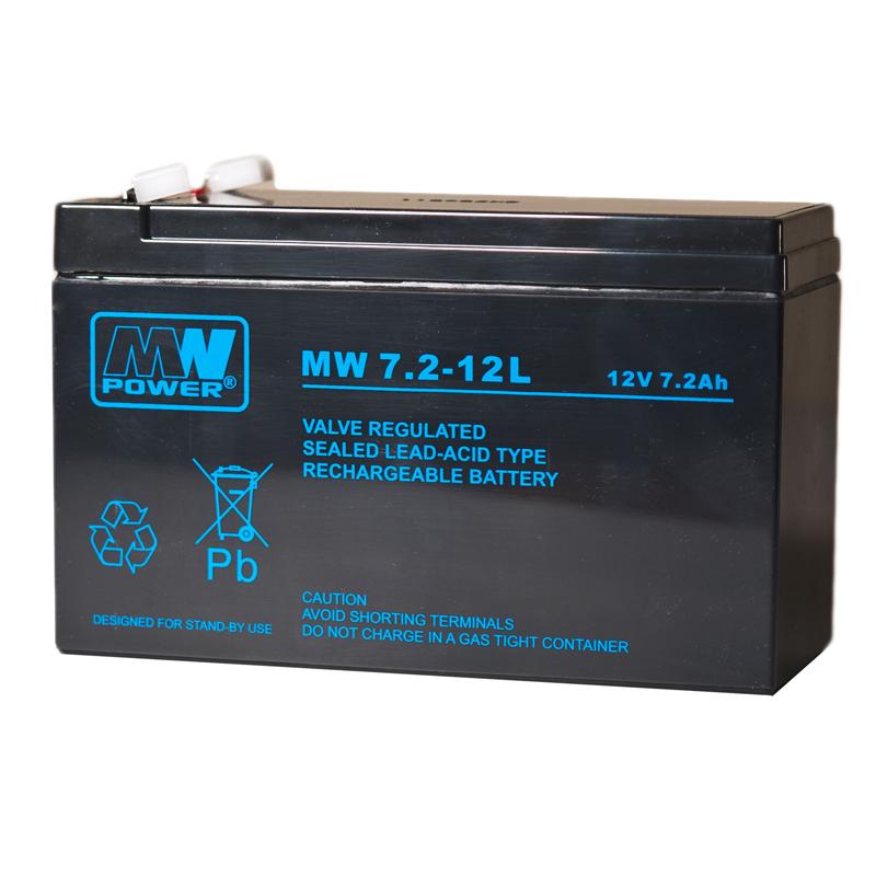 MWPower MW 12V 7.2Ah AGM akumuliatorius, 6-9 metai