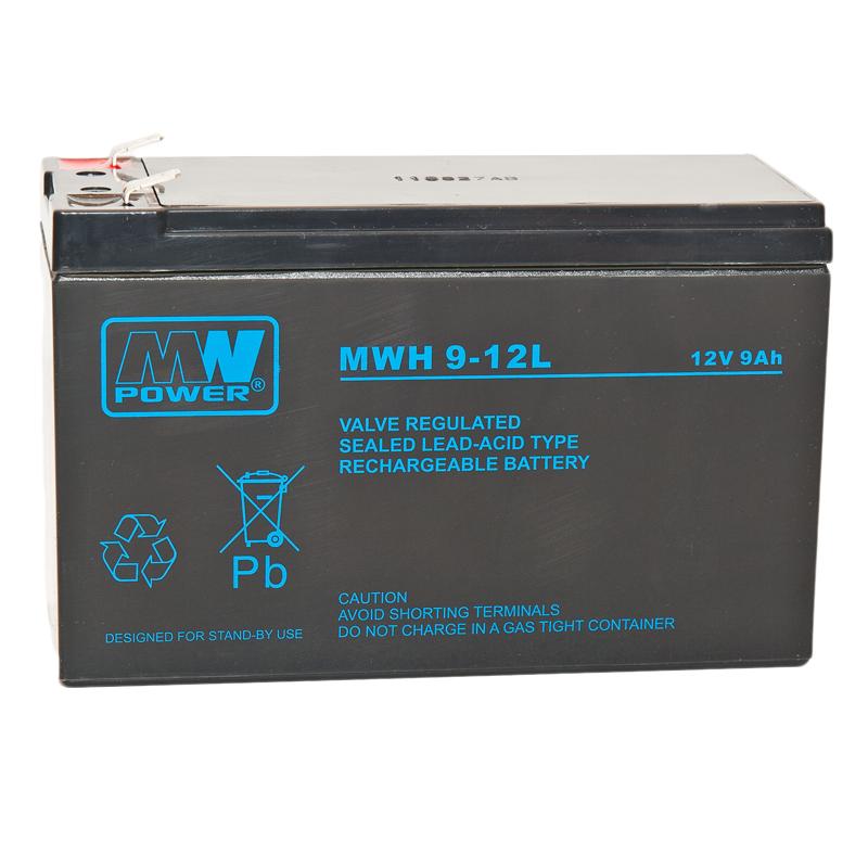 MWPower MW 12V 9Ah F2(250) AGM akumuliatorius, 6-9 metai