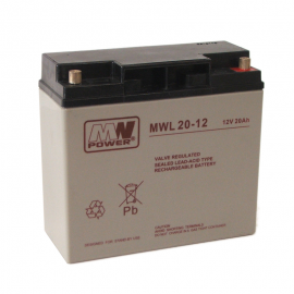MWPower MWL 12V 20Ah M5 (T13) AGM akumuliatorius, 10-12 metų