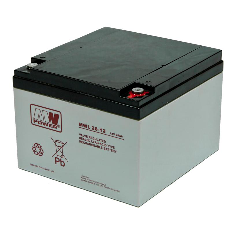 MWPower MWL 12V 26Ah M5 (T13) AGM akumuliatorius, 10-12 metų