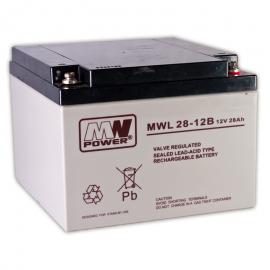 MWPower MWL 12V 28Ah M5(T13) AGM akumuliatorius, 10-12 metų