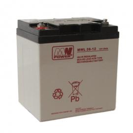 MWPower MWL 12V 28Ah M5 (T13) AGM akumuliatorius, 10-12 metų
