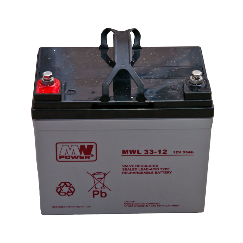 MWPower MWL 12V 33Ah M6 (T16) AGM akumuliatorius, 10-12 metų