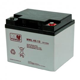 MWPower MWL 12V 40Ah M6 (T16) AGM akumuliatorius, 10-12 metų