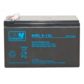 MWPower MWL 12V 9Ah F2(250) AGM akumuliatorius, 10-12 metų