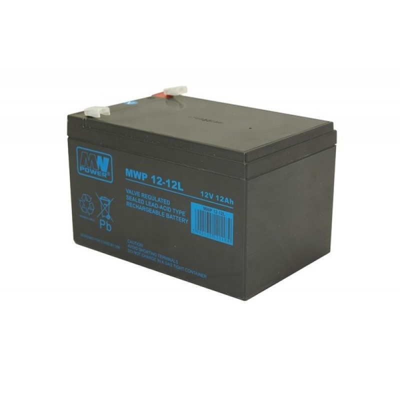 MWPower MWP 12V 12Ah F2(250) AGM akumuliatorius, 12 metų