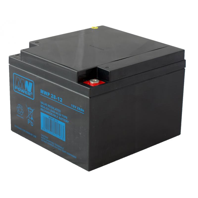 MWPower MWP 12V 28Ah M5(F6) AGM akumuliatorius, 12 metų