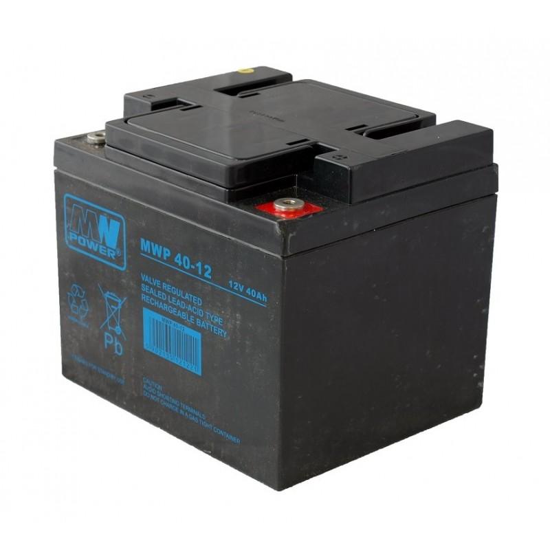 MWPower MWP 12V 40Ah M6(F8) AGM akumuliatorius, 12 metų