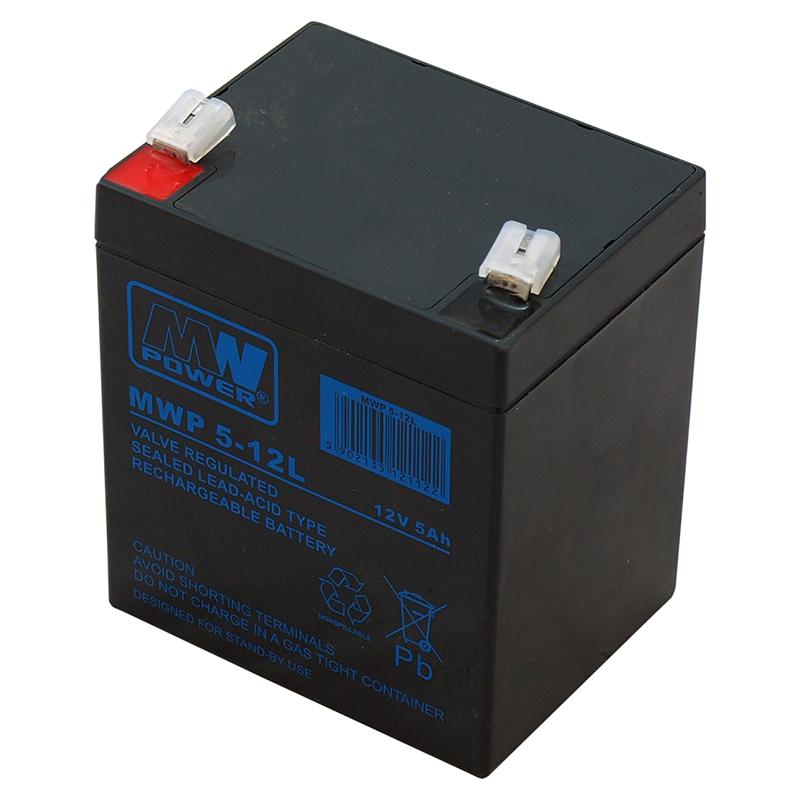 MWPower MWP 12V 5Ah F2(250) AGM akumuliatorius, 12 metų