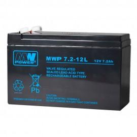 MWPower MWP 12V 7.2Ah F2(250) AGM akumuliatorius, 12 metų