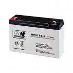 MWPower MWS 6V 12Ah F1(187) AGM akumuliatorius, 5 metai
