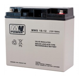 MWPower MWS 12V 18Ah M5(T13) AGM akumuliatorius, 5 metai
