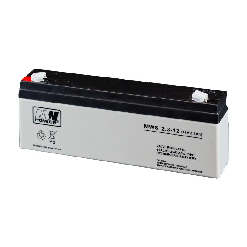 MWPower MWS 12V 2.3Ah F1(187) AGM akumuliatorius, 5 metai