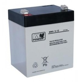 MWPower MWS 12V 5Ah F1(187) AGM akumuliatorius, 5 metai