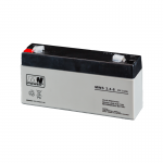 MWPower MWS 6V 3.4Ah F1(187) AGM akumuliatorius, 5 metai