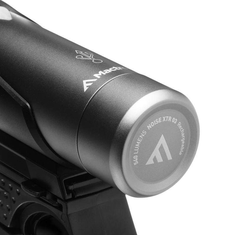 Mactronic 540lm įkraunamas priekinis dviračio žibintas Noise XTR 03
