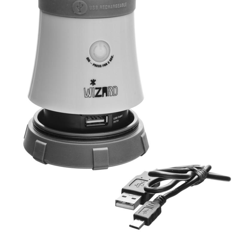 Mactronic įkraunamas 520lm stovyklavimo žibintas su Powerbank funkcija Wizard