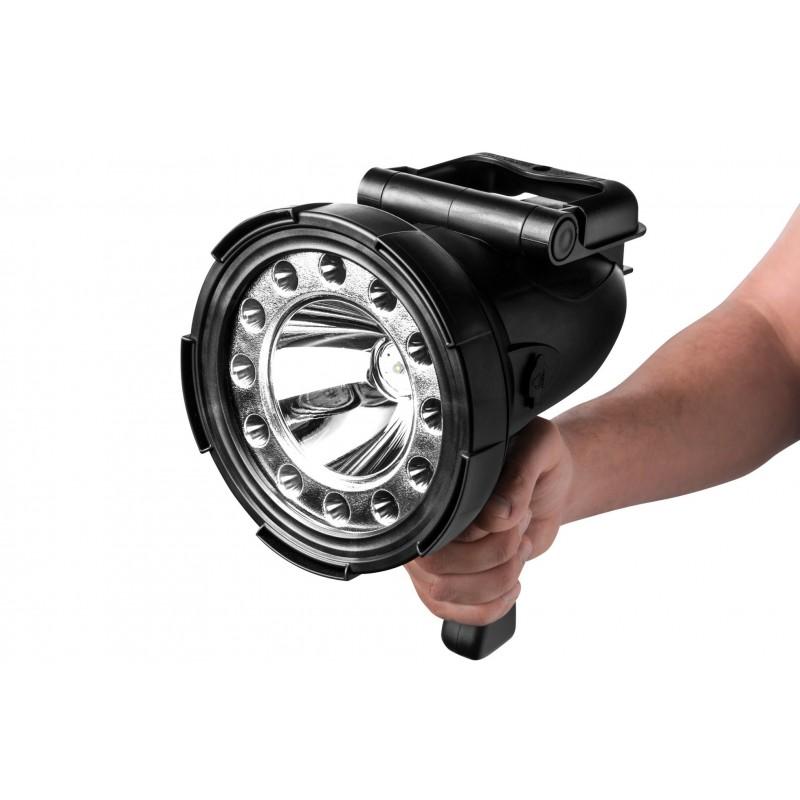 Mactronic įkraunamas 400lm + 12LED prožektorius su rankena