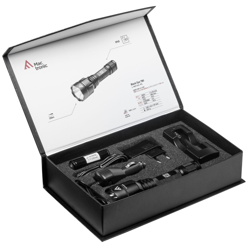 Mactronic įkraunamas 720lm žibintuvėlis Black Eye 780