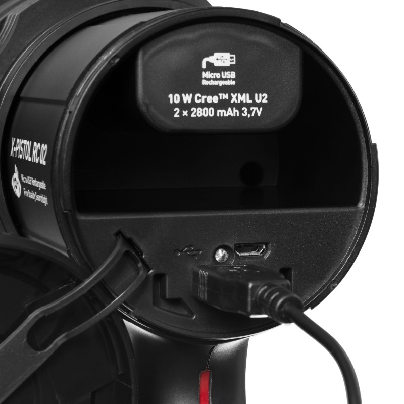 Mactronic įkraunamas 600lm prožektorius su rankena X-Pistol RC 02