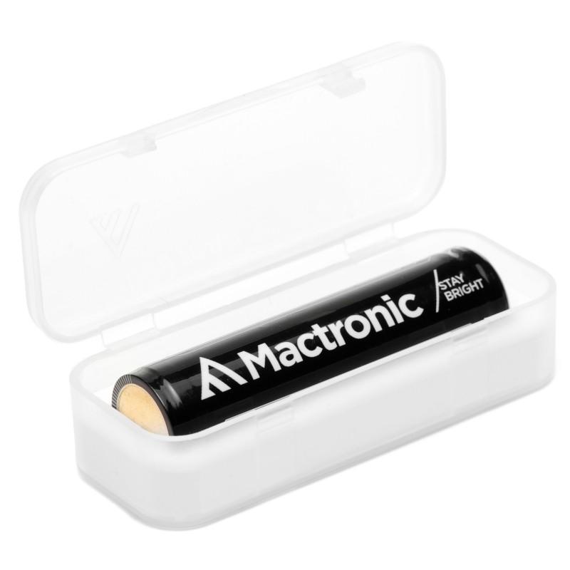 Mactronic 2200mAh 3,7V 18650 akumuliatorius USB įkraunamiems žibintuvėliams