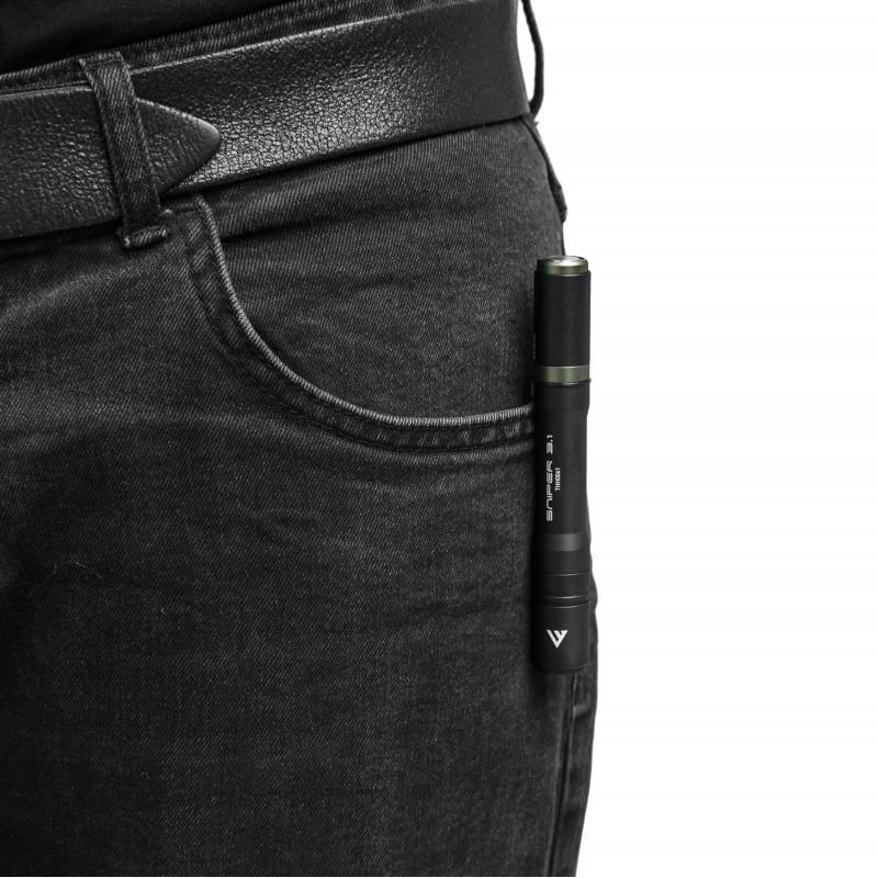 Mactronic 130lm USB įkraunamas žibintuvėlis su fokusavimo funkcija Sniper 3.1