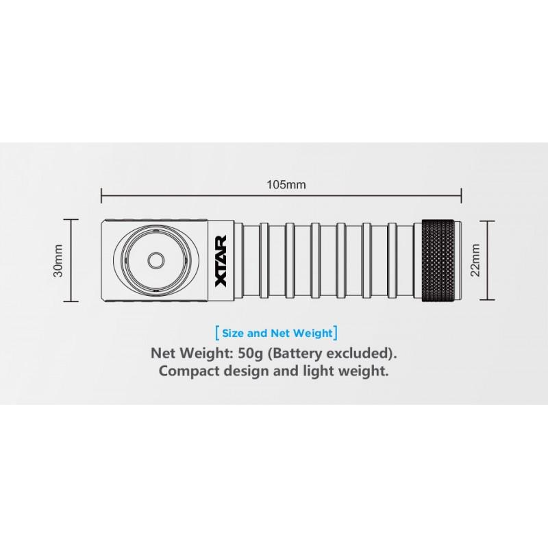 Xtar 950lm prožektorius ant galvos Warbow-W