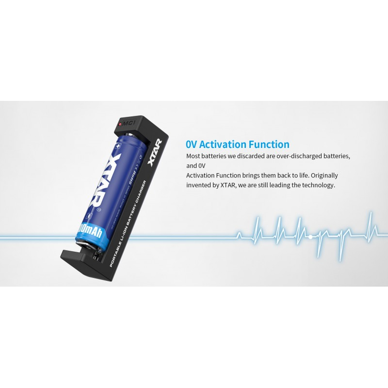 Xtar universalus ličio jonų akumuliatorių įkroviklis MC1