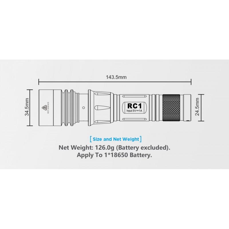 Xtar USB įkraunamas 800lm žibintuvėlis DARK WALKER (RC1)