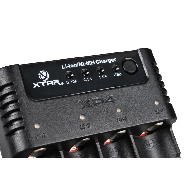 Xtar universalus ličio jonų ir Ni-MH akumuliatorių įkroviklis PANZER (XP4)